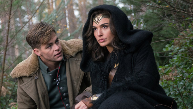 Chris Pine and Gal Gadot in the first 'Wonder Woman' film