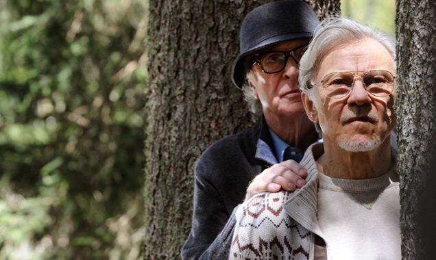 Michael Caine and Harvey Keitel