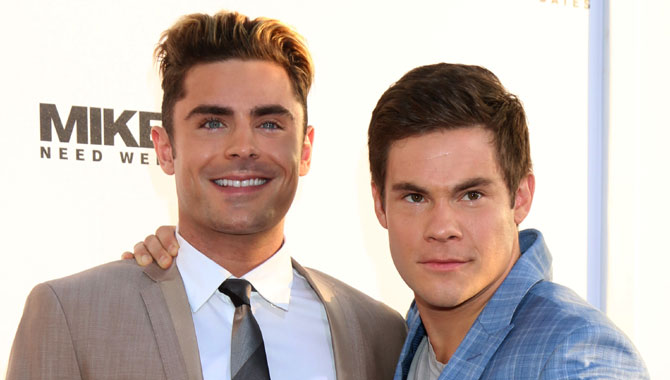 Zac Efron & Adam Devine on the red carpet for the Premiere of Mike and Dave Need Wedding Dates