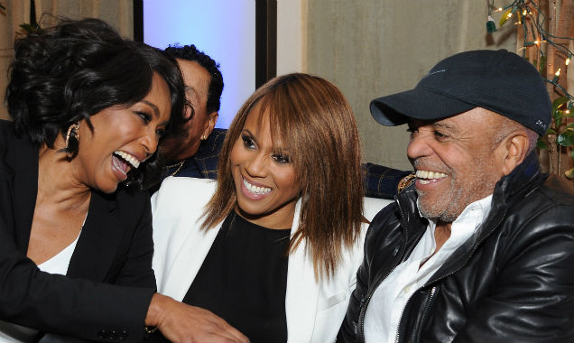 Angela Bassett, Deborah Cox and Berry Gordy at the 'Whitney' premiere (credit Angela Weiss - Getty Images)