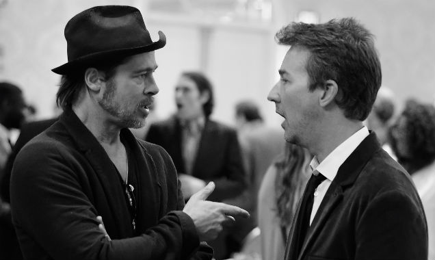 Brad Pitt and Edward Norton at the 15th Annual AFI Awards (Credit Frazer Harrison - Getty Images)
