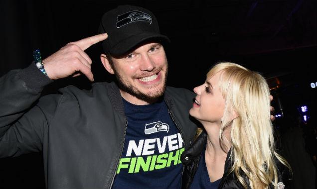 Chris Pratt and Anna Faris at 2015's Super Bowl (Credit Michael Buckner - Getty Images)