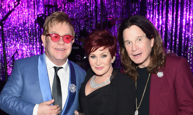 Sir Elton John poses with Sharon and Ozzy Osbourne (Credit Jamie McCarthy - Getty Images)
