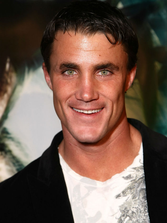 Greg Plitt at the '10,000 BC' premiere (Credit: Alberto E. Rodriguez at Getty Images Entertainment)