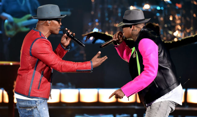 Jamie Foxx and Chris Brown at iHeartRadio Music Awards 2015 (Credit: Kevin Winter at Getty Images Entertainment)