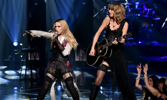 Madonna and Taylor Swift at iHeartRadio Music Awards 2015 (Credit: Kevin Winter at Getty Images Entertainment)