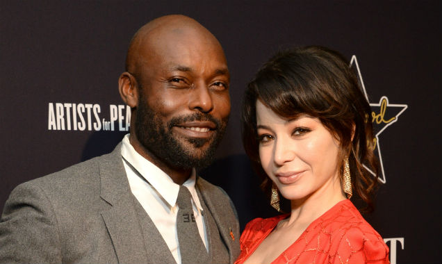Jimmy Jean-Louis and Katherine Castroat at the 8th Annual Hollywood Domino Gala, in Los Angeles (Credit Michael Kovac - Getty Images)