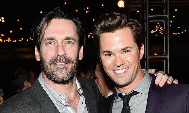 Jon Hamm and Andrew Rannells at the 'Girls' season four premiere (Credit Jamie McCarthy - Getty Images)