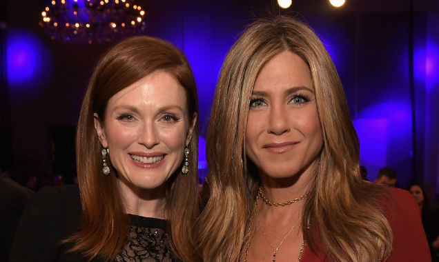 Julianne Moore (Best Actress winner) and Jennifer Aniston (Best Actress nominee) (Credit Jason Kempin - Getty Images)