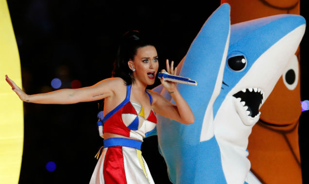 Katy Perry (and a shark) during the 2015 Super Bowl half-time show (Credit Christian Petersen - Getty Immages)