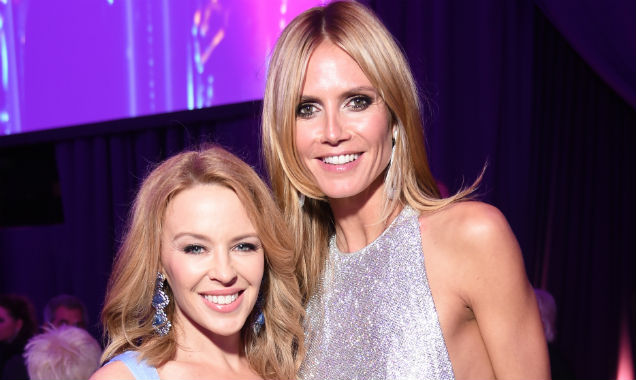 Kylie Minogue and Heidi Klum celebrate the Academy Awards together (Credit Dimitrios Kambouris - Getty Images)