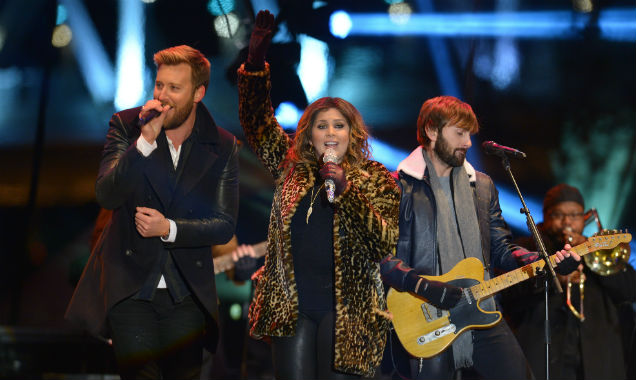 Lady Antebellum at New Year's Rockin' Eve 2015