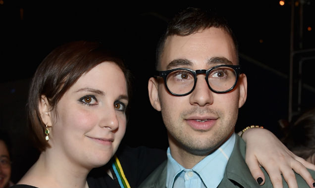 Lena Durham and Jack Antonoff at the 'Girls' season four premiere (Credit Jamie McCarthy - Getty Images)