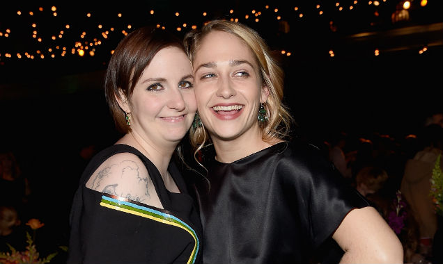 Lena Durham and Jemima Kirke at the 'Girls' season four premiere (Credit Jamie McCarthy - Getty Images)