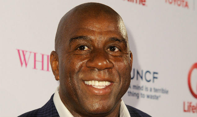 Magic Johnson at the 'Whitney' premiere (credit Angela Weiss - Getty Images)
