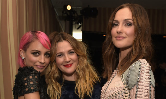 Nicole Richie, Drew Barrymore and Minka Kelly together at the Sunset Tower Hotel (Credit Jason Kempin - Getty Images)