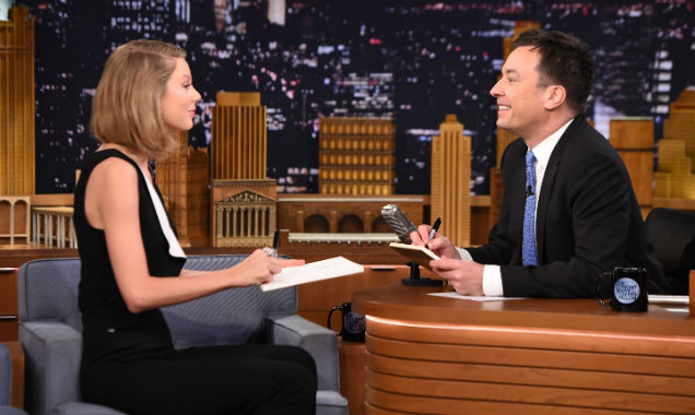 Taylor Swift and Jimmy Fallon on 'The Tonight Show' 4