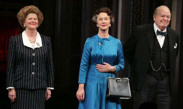 [L-R] Judith Ivey, Helen Mirren and Dakin Matthews in 'The Audience'