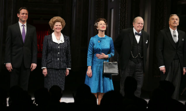 [L-R] Rufus Wright, Judith Ivey, Helen Mirren, Dakin Matthews and Michael Elwyn in 'The Audience'