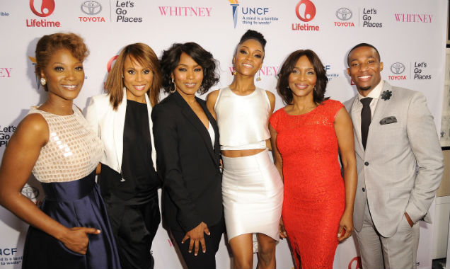 Yolanda Ross, Deborah Cox, Angela Bassett, Yaya DaCosta, Suzzanne Douglas and Arlen Escarpeta at the 'Whitney' premiere (credit Angela Weiss - Getty Images)