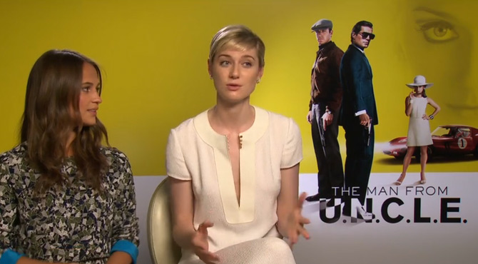 The Man From U.N.C.L.E. - Alicia Vikander & Elizabeth Debicki Interview
