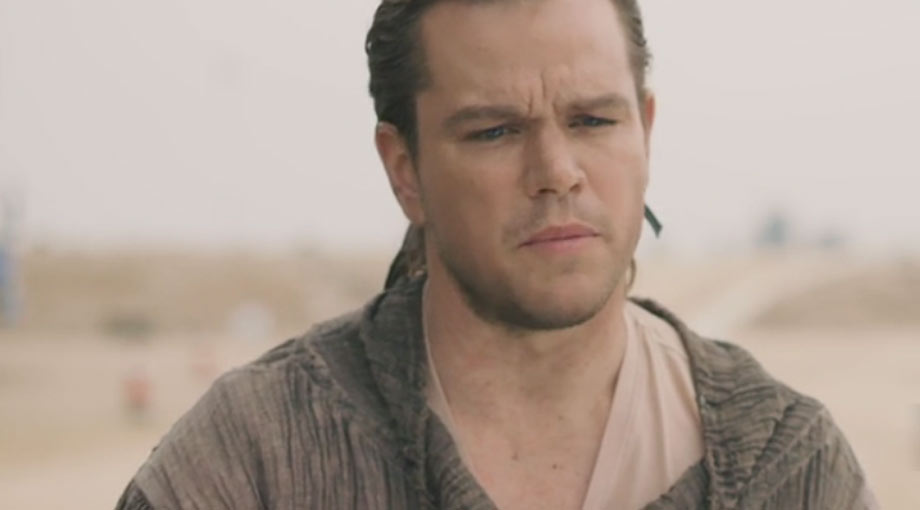 Matt Damon Befuddled By The Great Wall