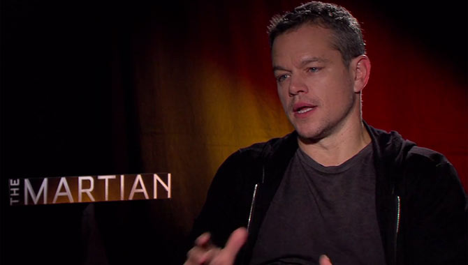 Matt Damon - The Martian Video Interview