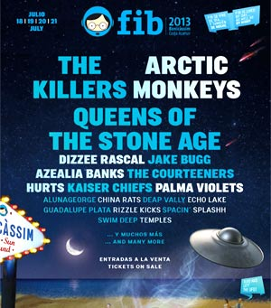 Benicassim 2013 Line-Up - More Names Announced Beady Eye, Johnny Marr, Knife Party Plus Many More