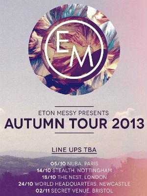 Eton Messy announce debut 'Eton Messy Presents' Tour for Autumn 2013