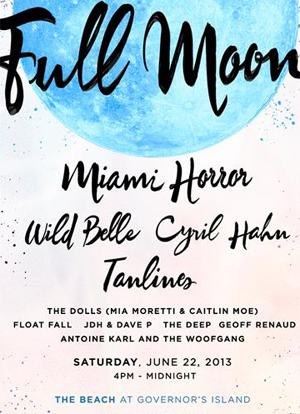 Full Moon 2013 Announces Initial Lineup Including Miami Horror, Tanlines, Wild Belle Plus Many More.
