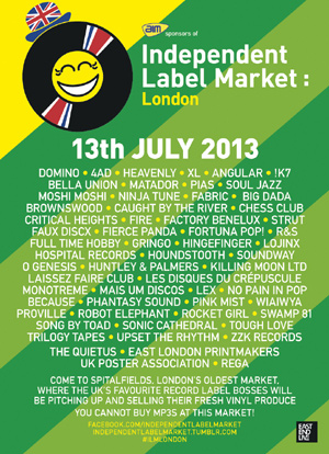 Independent Label Market Announces Biggest Event To Date, With 4ad, Bella Union, Domino Plus Many More