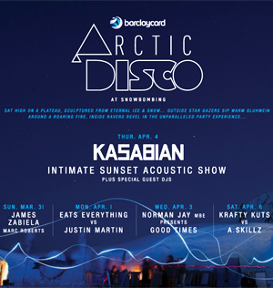 Kasabian To Play Barclaycard Arctic Disco At Snowbombing 2013