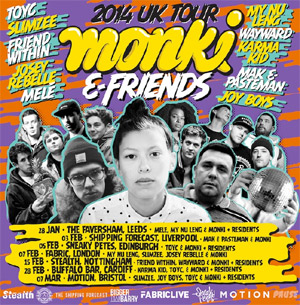 Monki Announces Debut Monki And Friends 2014 Tour