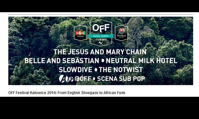 Off Festival 2014 Announce Slowdive, Orchestre Poly-rythmo De Cotonou, John Wizards Plus Many More