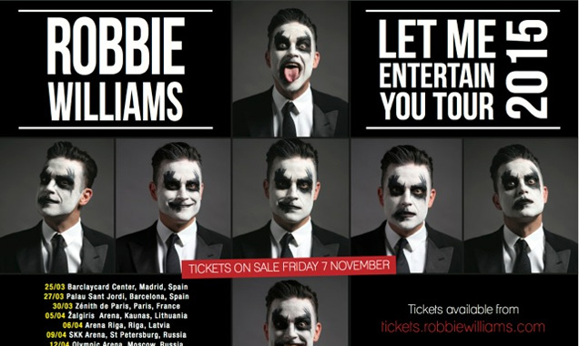 Robbie Williams Announces A New European Tour For Spring 2015