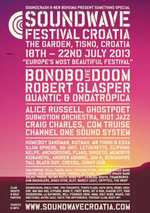 Dj Shadow, Dj Yoda, Lapalux And Hiatus Kaiyote Added To Soundwave Festival Croatia Lineup For July 18th-22nd 2013