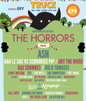 Truck Festival 2013, Line Up Announcement  The Horrors Plus Many More