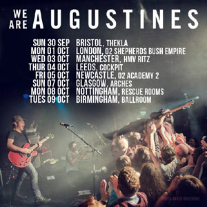 We Are Augustines Announce October 2012 Uk Tour