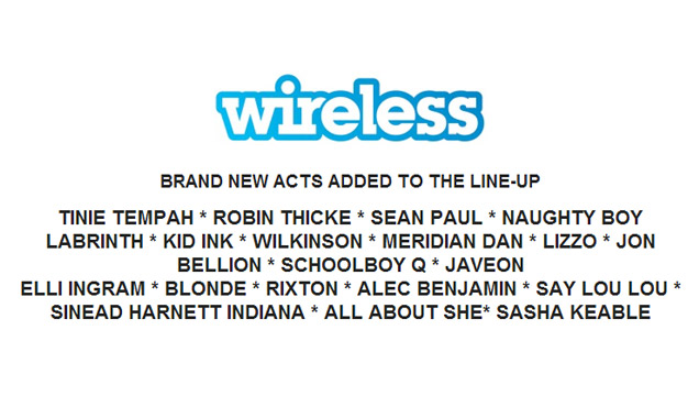 Wireless Festival 2014 Tinie Tempah, Robin Thicke, Sean Paul Plus Many More Added To Bill