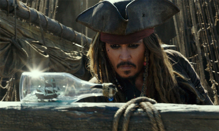 Captain Jack Sparrow in Pirates Of The Caribbean