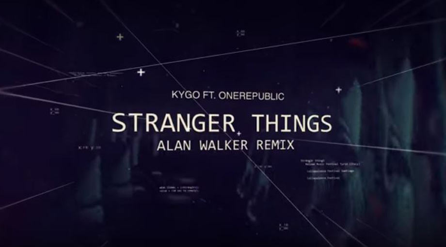 Kygo - Stranger Things ft. OneRepublic (Alan Walker Remix) Lyric Video Video