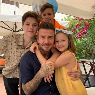 Victoria Beckham says David is 'the best daddy in the world' to their kids