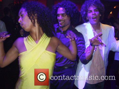 Cast members dancing Aftershow-party for the World Premiere...
