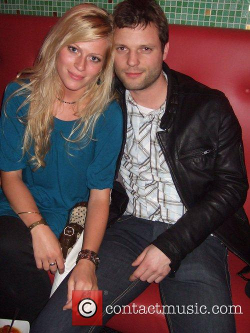 Peter Thorwarth, his girlfriend Nele Kiper Aftershow-party for...