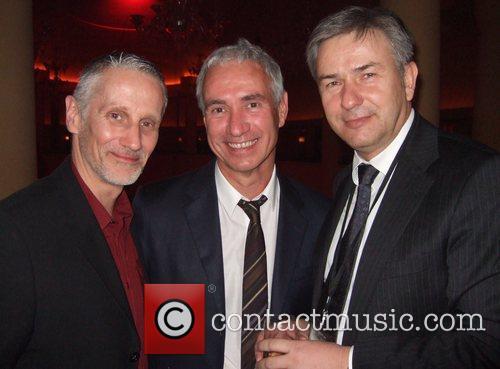 Roland Emmerich (center), Berlin Mayor Klaus Wowereit (right),...