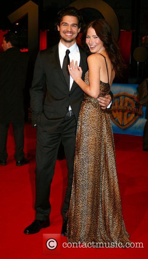 Steven Straight, his wife Lynn Collins World Premiere...