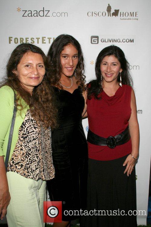 Q'Orianka Kilcher & family '11th Hour' screening held...