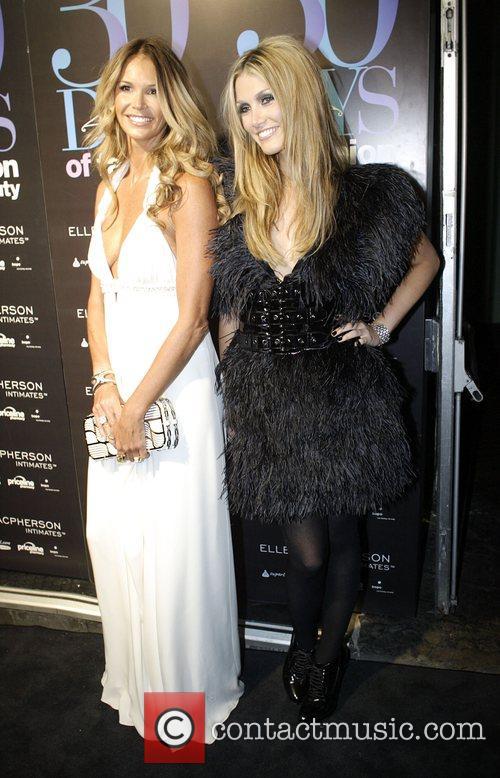 Elle Macpherson and Delta Goodrem The official launch...