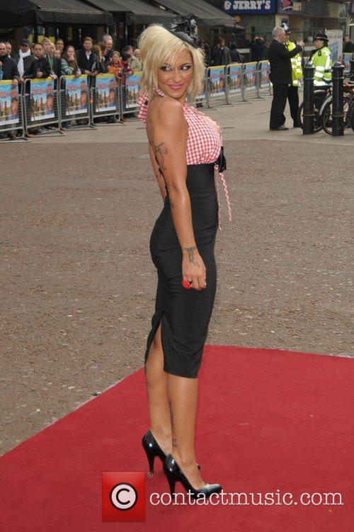 Jodie Marsh at the UK film premiere of...