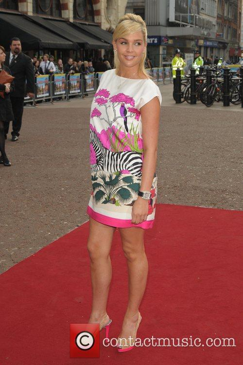 Danielle Lloyd at the UK film premiere of...
